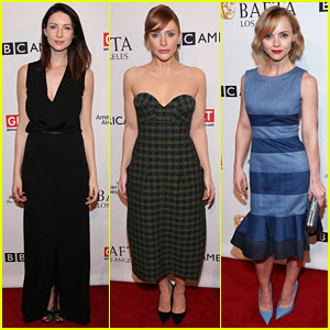 Caitriona Balfe, Bryce Dallas Howard, & Christina Ricci Are BAFTA Tea Party Beauties