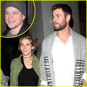 Chris Hemsworth & Elsa Pataky Double Date with Matt Damon & Wife Luciana!