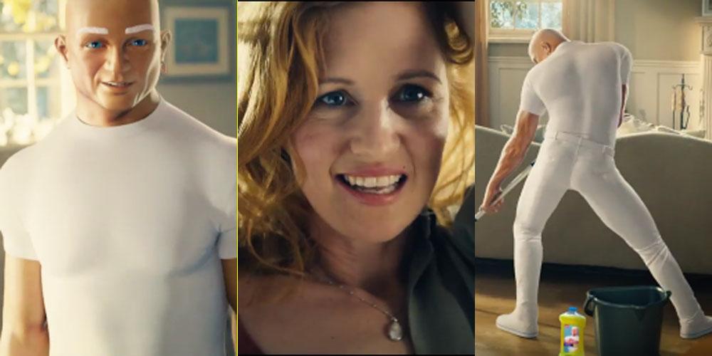 video mr clean seduces woman in super bowl 2017 commercial 2017 super bowl 2017 super bowl commercials just jared