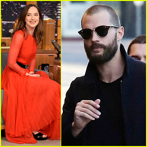 Dakota Johnson & Jamie Dornan Do Late Night Shows on Different Coasts!