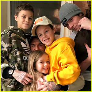 David Beckham Is Surrounded By His Kids in Cute New Photo!