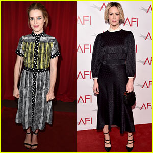 Golden Globe Nominees Claire Foy & Sarah Paulson Honored at AFI Awards Luncheon