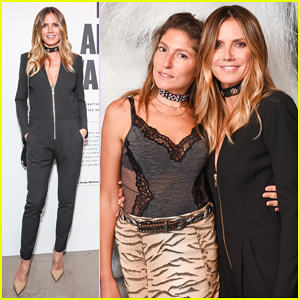 Heidi Klum Lives It Up With Boyfriend Vito Schnabel's Sister At Andy Warhol Exhibit!