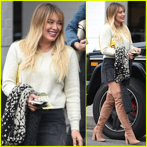 Hilary Duff Rocks Thigh-High Boots to Lunch in L.A.