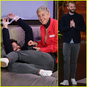 Jamie Dornan & Ellen DeGeneres Spoof 'Fifty Shades Darker' in Funny Video - Watch Now!