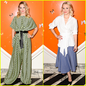 January Jones Rocks Flowing Jumpsuit At Tome X Swarovski Dinner!