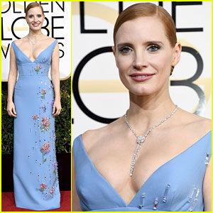 Jessica Chastain's Golden Globes 2017 Look Is Prada Perfect!