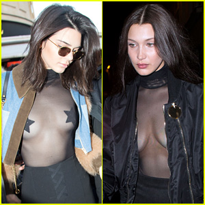 Kendall Jenner & Bella Hadid Both Wears Sheer Tops in Paris!