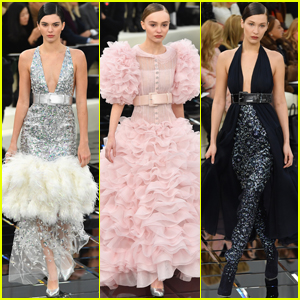 Kendall Jenner, Bella Hadid & Lily-Rose Depp Go Glam For Chanel Fashion Show