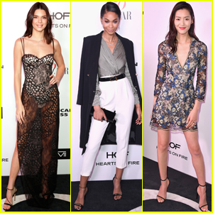 Kendall Jenner & Chanel Iman Get Chic at 'Harper's Bazaar' Fashionable Women Event