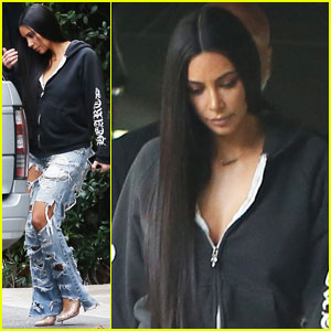 Kim Kardashian Steps Out With Friends For Rare Public Outing