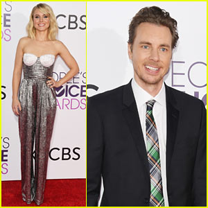 Kristen Bell & Dax Shepard Share Adorable Selfies En Route to People's Choice Awards