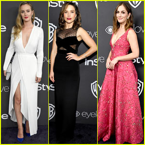 Leighton Meester, Sophia Bush, & Minka Kelly Dazzle at Golden Globes 2017 After Party!