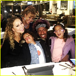 Mariah Carey Enjoys 'Family Dinner' With Nick Cannon & Kids After NYE Performance