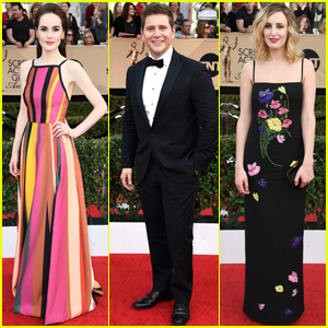 Michelle Dockery & 'Downton Abbey' Cast Step Out at SAG Awards 2017