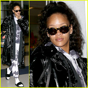 Rihanna Arrives Back in New York City After Spending Holiday Abroad!