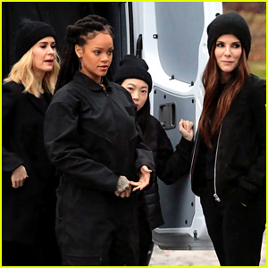 Sandra Bullock & Rihanna Look Ready for a Heist on 'Ocean's Eight' Set!