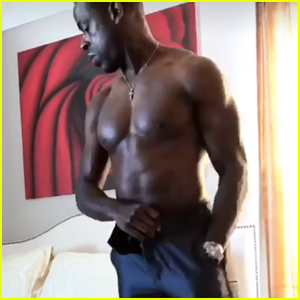 Sterling K. Brown Shows Off His Buff Body While Getting Golden Globes Ready