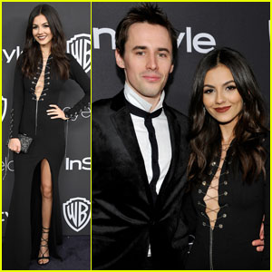 Victoria Justice & Reeve Carney Make One Cute Couple at Golden Globes 2017 After-Party