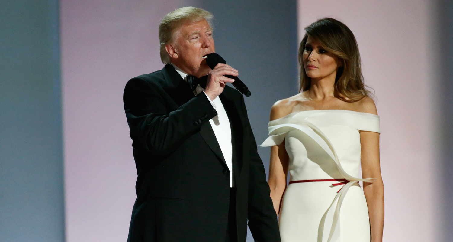 Who Designed Melania Trump S Inaugural Ball Gown 2017 Presidential Inauguration Hervé Pierre Just Jared