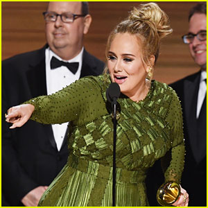 Adele Asks Beyonce to Be Her Mommy During Grammys' Record of the Year Speech (Video)