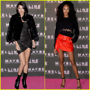Adriana Lima & Jourdan Dunn Stun at Maybelline Party in London