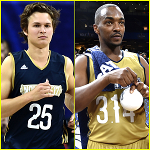 Ansel Elgort & Anthony Mackie Face Off in NBA All-Star Celebrity Game!