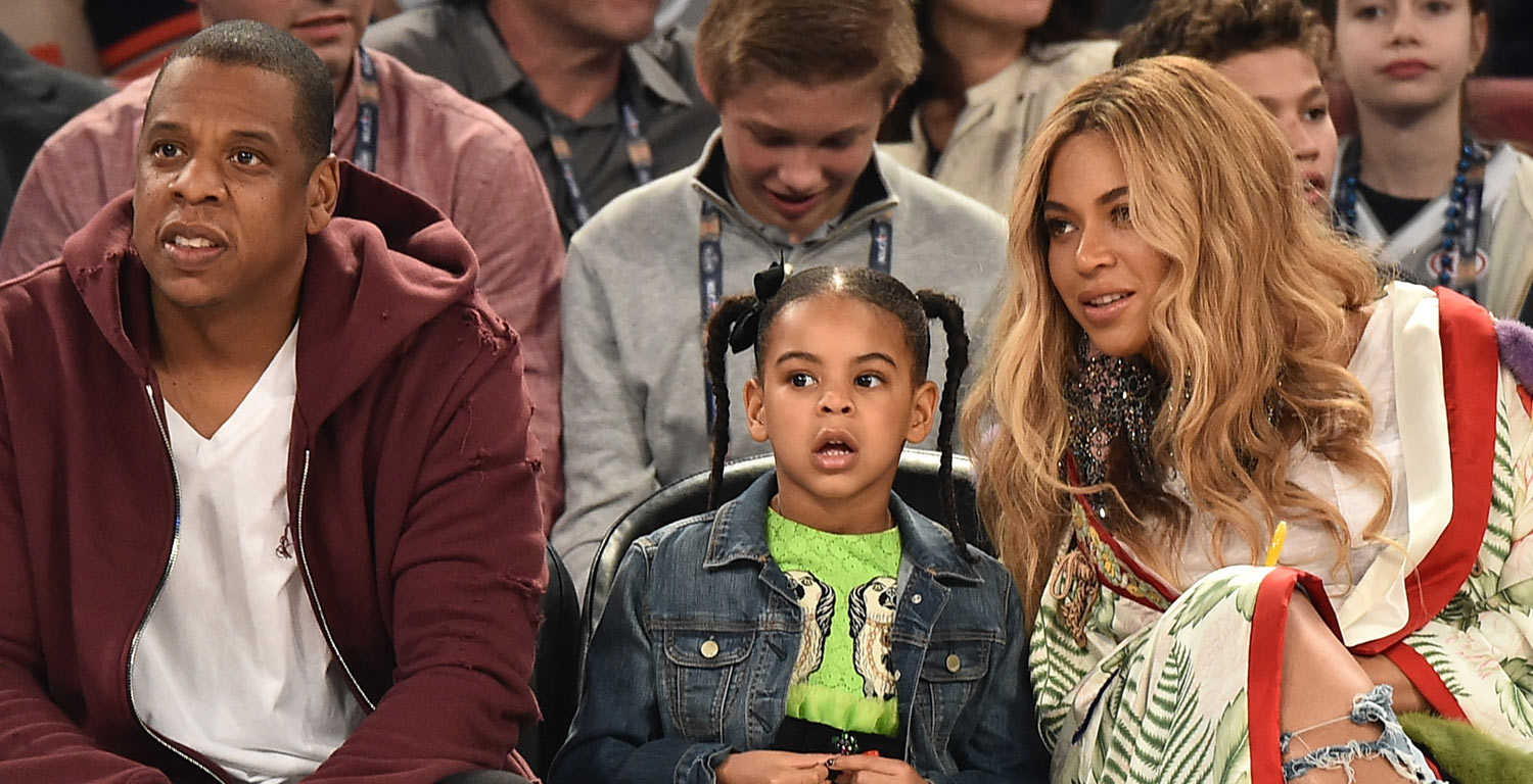 737726a001b3b0 Beyonce   Jay Z Sit Court Side with Blue Ivy at NBA All-Star Game in New  Orleans!