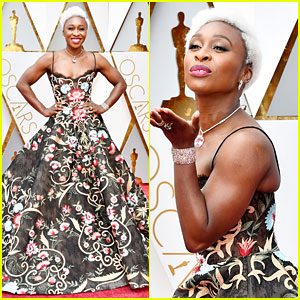 Tony Winner Cynthia Erivo Makes Her Oscars Red Carpet Debut!