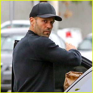 Dad-to-Be Jason Statham Grabs Coffee in WeHo