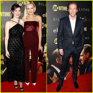 Damian Lewis, Malin Akerman, & Maggie Siff Attend 'Billions' Season Two Premiere Party