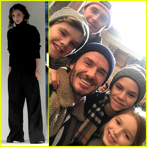 David Beckham Entertains The Kids While Victoria Works During NYFW