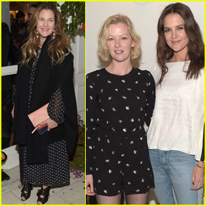 Drew Barrymore & Katie Holmes Step Out at 'Club Monaco' NYFW Presentation