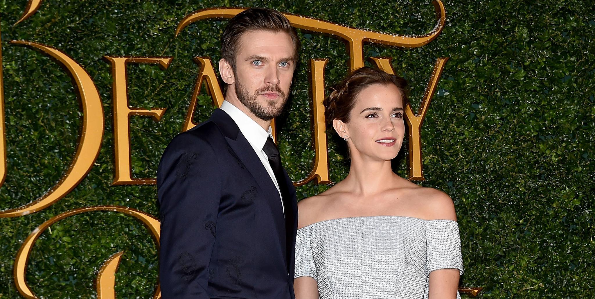 Emma Watson Dan Stevens Team Up For Beauty The Beast London Premiere