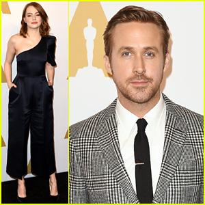 Emma Stone & Ryan Gosling Rep 'La La Land' at Oscar Nominees Luncheon 2017!