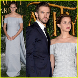 Emma Watson & Dan Stevens Team Up For 'Beauty & the Beast' London Premiere