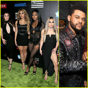 Fifth Harmony & The Weeknd Mingle at Grammys 2017 After Party!