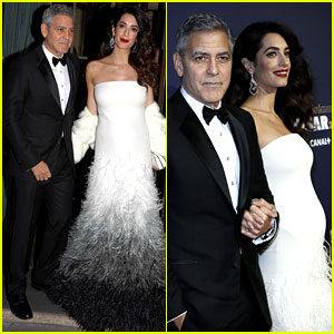 Pregnant Amal Clooney Debuts Baby Bump with Husband George at Cesar Awards!