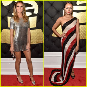 Heidi Klum & Kat Graham Shine at the Grammys 2017