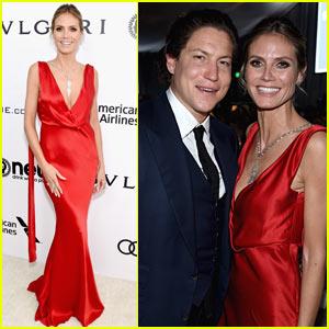 Heidi Klum & Boyfriend Vito Schnabel Make Rare Public Appearance at Elton John Oscars Party!