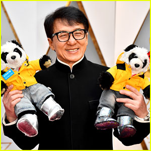 Jackie Chan's Oscars 2017 Dates - Two Stuffed Pandas!