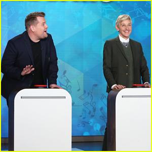 James Corden & Ellen DeGeneres Battle It Out In 'Finish The Lyric' - Watch Here!
