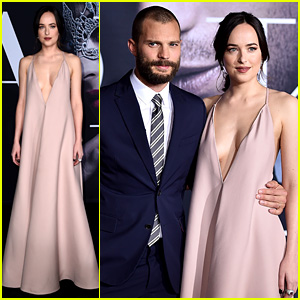 Jamie Dornan & Dakota Johnson Are Picture Perfect at 'Fifty Shades Darker' L.A. Premiere!