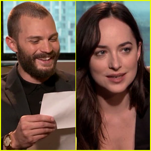 Jamie Dornan & Dakota Johnson Try to Make Furniture Instructions Sound Sexy! (Video)
