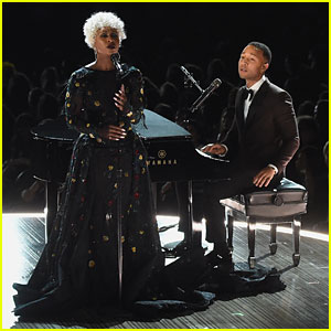 John Legend & Cynthia Erivo Perform 'In Memoriam' at Grammys 2017 - Watch Now