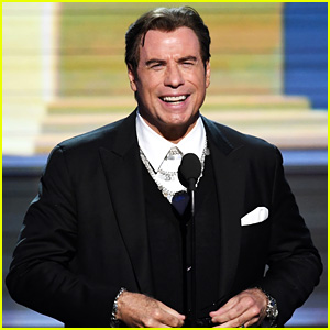 John Travolta Tried to Make Lots of Jokes at Grammys 2017 (Video)