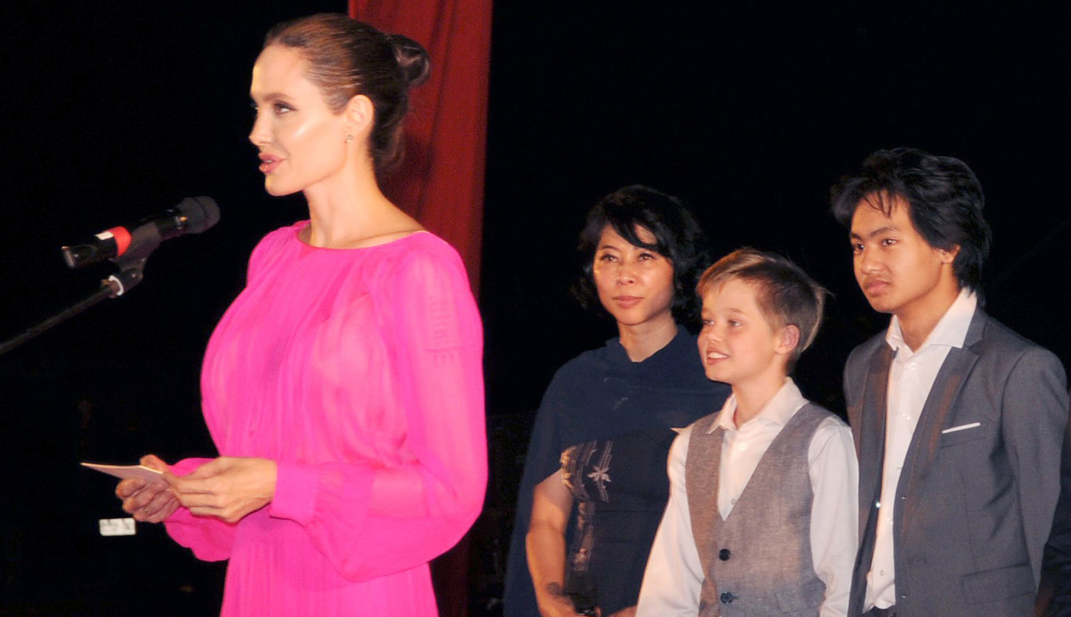 angelina jolie news newslocker angelina jolie speaks on stage while premiering her new film first they killed my father on saturday night 18 at the elephant terrace inside the