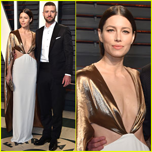 Justin Timberlake & Jessica Biel Keep the Party Going at Vanity Fair's Oscar Bash