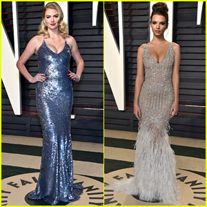 Kate Upton & Emily Ratajkowski Are Beauties at Vanity Fair's Oscar Party