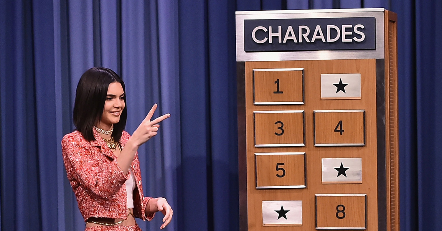 Kendall Jenner Plays Charades with Jimmy Fallon u2013 Watch Now! | Jimmy Fallon Kendall Jenner ...